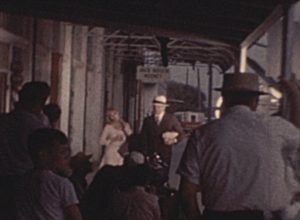 On the Set of Bonnie and Clyde (1966)